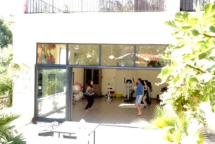 Fitness class in the studio