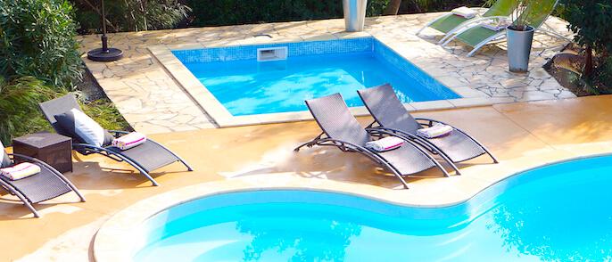 Splash pool simple slide