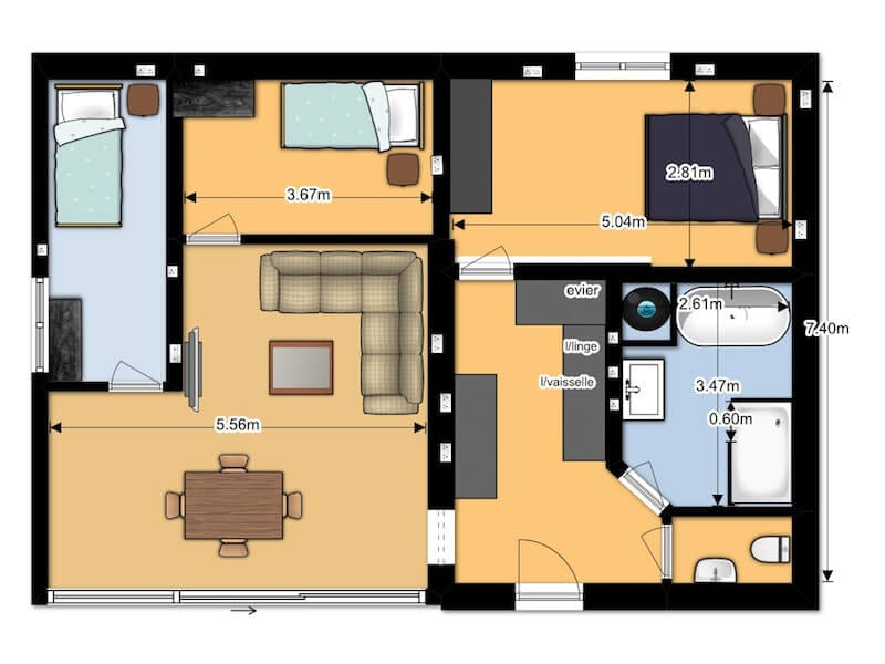 Oriole Apartment Floor plan
